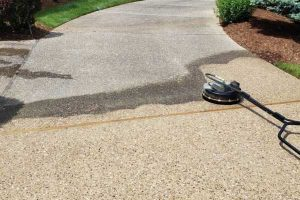 concrete cleaning surface
