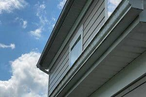 Gutter Cleaning Louisville: Before image of dirty gutters