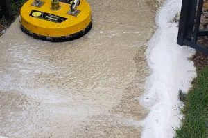 image of concrete cleaning process