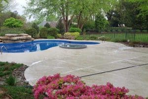after photo of concrete cleaning