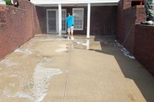 photo of concrete cleaning