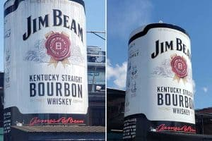 Jim Beam before and after shot commercial pressure washing