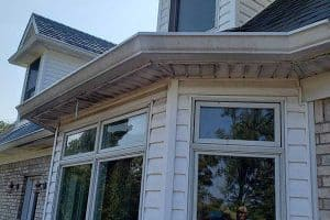 Gutter Cleaning Louisville: Before image of gutters that need cleaning