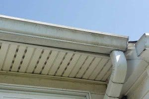 Gutter Cleaning Louisville: Close-up of dirty gutters